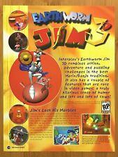 Earthworm Jim 3D N64 Nintendo 64 1999 Vintage Print Ad/Poster Doug Tenapel Art