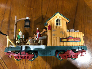 New Bright HOLIDAY EXPRESS CHRISTMAS TRAIN Animated Log Mill Car.