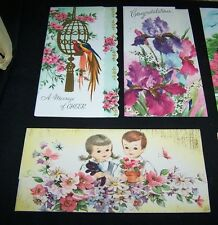 14 VINTAGE BOXED GREETING CARDS WITH ENVELOPES-ASSORTED-BIRTHDAY-GET WELL-CONGRA