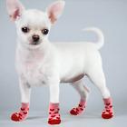 Dog Puppy Anti-slip Socks - For Tiny & Small Breeds - Valentine Hearts - S, M, L