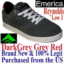 Emerica REYNOLDS LOW 3 Men's SIZE 7.0 Skate Shoes - DARK GREY Skateboard BMX