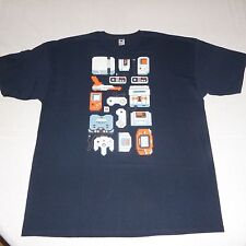 New TeeFury Gaming Gamer Controllers T Shirt Mens Size 2XL XXL Blue Short Sleeve