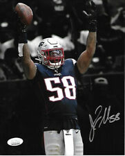 Jamie Collins New England Patriots Autographed hand Signed 8x10 photo -JSA-