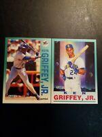 1992 Fleer Ken Griffey Jr. Lot Pro Vision and Base - Seattle Mariners