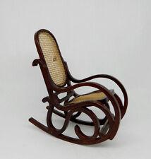Vintage Bespaq Mahogany Cane Back Rocking Chair Dollhouse Miniature 1:12