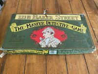 Vintage Gibson The Master Detective Game 221B Baker Street Family Board Game
