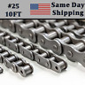 #25 Roller Chain 10 FT FEET + 1 Connecting / Master Link  Same Day Shipping