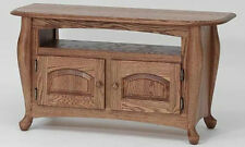 #1073 Solid Wood Oak Queen Anne  TV Stand