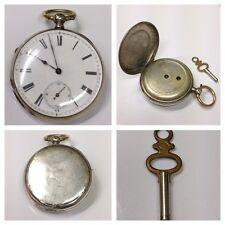 Antike Taschenuhr mit Schlüssel 4 Rubis Uhr Funktionsfähig