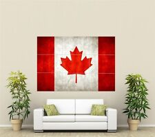 Canada Flag Giant XL Section Wall Art Poster O104