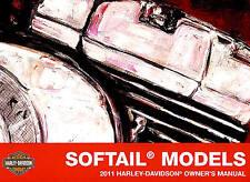 2011 HARLEY-DAVIDSON SOFTAIL OWNERS MANUAL -FAT BOY-ROCKER-FXST-HERITAGE