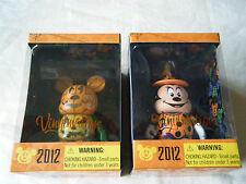 "2012 DISNEY HALLOWEEN VINYLMATION 3"" MICKEY MOUSE PUMPKIN MINNIE WITCH SET MIB!!"