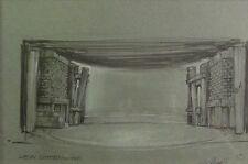 Hans-Albert Dithmer (1903-1992) Aquarell: Theatermalerei: HEIN GODENWIND GRUNDB: