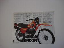 advertising Pubblicità 1979 MOTO HONDA XL 500 S