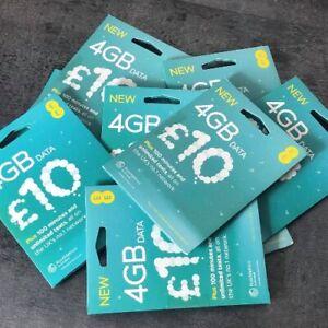 EE Sim Card - PAYG 100 Minutes - 4GB Data - Unlimited SMS - Mini Micro & Nano