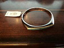 Michael Kors Tribal Bangle Bracelet Howlite Silver Tone Hinged
