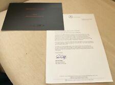 Mercedes SLR McLaren Specifications & Options 2006 Sales leaflet with letter