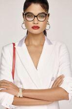 New Victoria Beckham Fine Oval Kitten Optical Glasses Black Horn $450