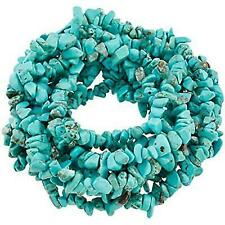 SUNYIK Howlite Turquoise Tumbled Chip Stone Irregular Shaped Drilled Loose Beads