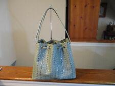 Authentic Brahmin Medium Luna Ocean (OE) La Scala Embossed Leather Handbag NWT