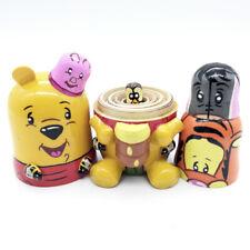 "Russian Matryoshka Wooden Nesting Dolls /""Winnie-the-Pooh/"" 5 pcs hand painted #5"