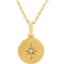 "Diamond Starburst 16-18"" Necklace In 14K Yellow Gold (.08 ct. tw.)"