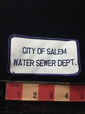 Vtg As-Is Massachusetts Patch City Of Salem Water And Sewer Dept. 71Y