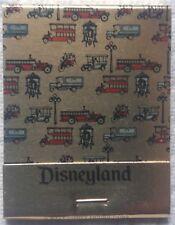 EARLY DISNEYLAND MAIN STREET RIDE VEHICLE MATCHBOOK, WDP, 20 STRIKE, GOLD FINISH