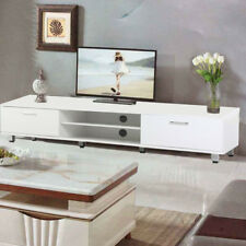 New Modern TV Unit Cabinet Stand Media Video Lowboard Sideboard White
