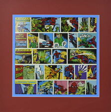 Spider-Man v Dragon-Men Mad Hatter Abominable Snowman Strips Print Pro Matted