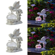 Angel Fairy Figurine Statue Garden Decor Outdoor Solar Light Color Changing Wing