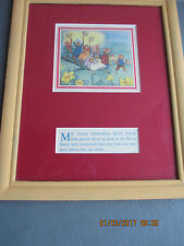 vintage framed illustration and text from Alison  Uttley's Toad Castle 1951