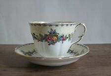 More details for vintage crown staffordshire cup and saucer.reg 708431