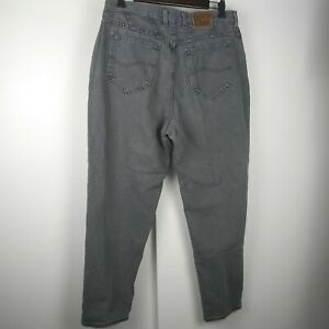 Vintage Y2k Lee High Rise Tapered Leg Grey Mom Jeans Tag Size 16 Petite 34 Waist