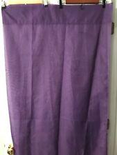 Purple curtain drape