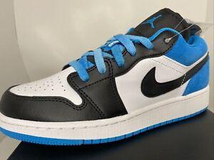 Air Jordan 1 Low SE GS Laser Blue/White New Size 5Y US CT1564 004