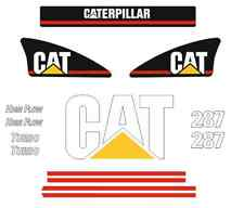287 STICKER SET SKID STEER CATERPILLAR CAT DECAL KIT LOADER