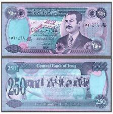Iraq 250 Dinar 1995 Saddam Hussein (UNC) 全新 伊拉克 250第纳尔 1995版