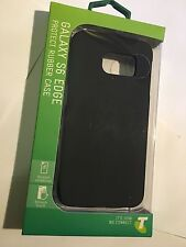 Samsung Galaxy S6 Edge Hard Protector Rubber Case in Black SCR6E0 Brand New Pack