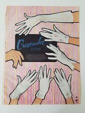 1960 women's Crescendoe Romanza Gigi pop Legato lyric gloves Rene Gruau ad