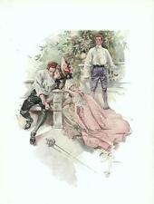 Loser Wins  -  Duel  -  Pretty Lady -  Harrison Fisher - Victorian Print - 1907