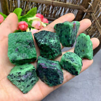1/2LB Natural Red Green Zoisite Raw Stone Quartz Crystal Healing Reiki Specimen