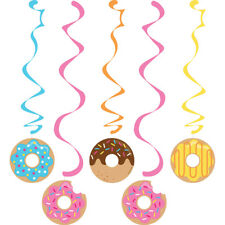 Donut Time Birthday Party Whirls Dizzy Danglers Hanging Decorations 5 Pc