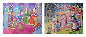 GRAFIX Boys Jigsaw 45 Pieces Puzzles Puss In Boots Hansel & Gretel Family Fun