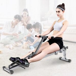 Rowing Machine 12-gear Adjustable Resistance Home Cardio Exercise Gym Fitness