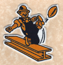 """🏈 4"""" PITTSBURGH STEELERS Retro Steely McBeam Iron-on Football JERSEY PATCH!"""