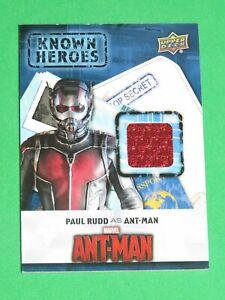 2016 CAPTAIN AMERICA CIVIL WAR KNOWN HEROES KH-AM PAUL RUDD ANT-MAN COSTUME CARD
