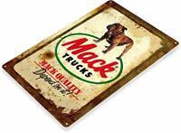 Mack Trucks Rustic Garage Auto Shop Rustic Metal Decor Sign