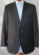 New Saks Fifth Avenue By Samuelsohn Gray Wool  Blend 2-Bt Suit 46R/W40L EU 56R.