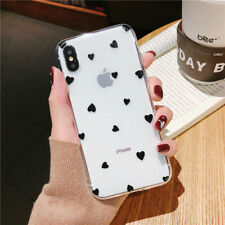 Slim Case For iPhone XS Max XR 6 7 8 Plus 5 Cover Cute Love Heart Clear Soft TPU